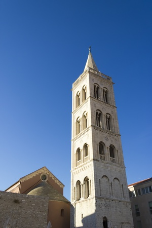 Church of st. Donat, a monumental building from the 9th century in Zadar, Croatia photo