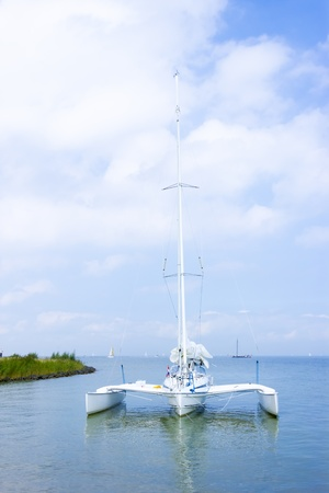 Catamaran on the water, Marken, the Netherlands Stock Photo - 21637809
