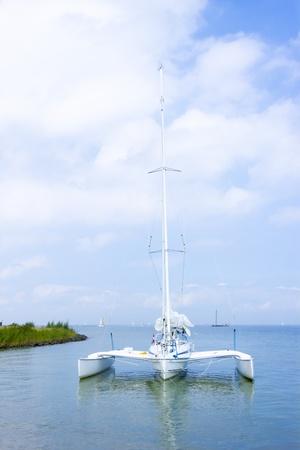 Catamaran on the water, Marken, the Netherlands Stock Photo - 21637809