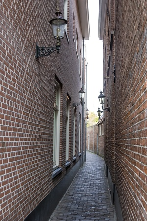 Narrow street, Haarlem, the Netherlands photo
