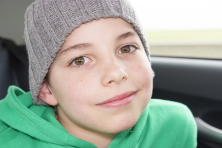 scallywag: closeup of cute young eleven years boy