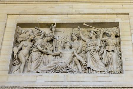bas relief: bas relief, Pantheon, Paris, France Stock Photo