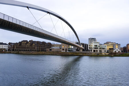 maas: Big Bridge over the Maas river in Maastricht, Netherlands