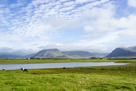 impassive: Beautiful lake against mountain