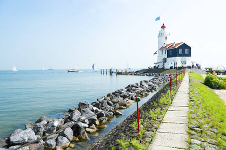 marken: The road to lighthouse, Marken, the Netherlands