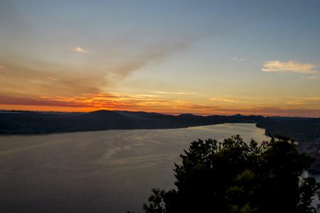 Maslenica Strait of the Adriatic Sea, north of Zadar, Croatia photo