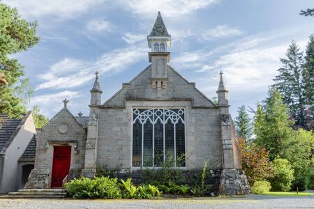 Nethy village church in Strathspey in the Highland Council Area of Scotland.