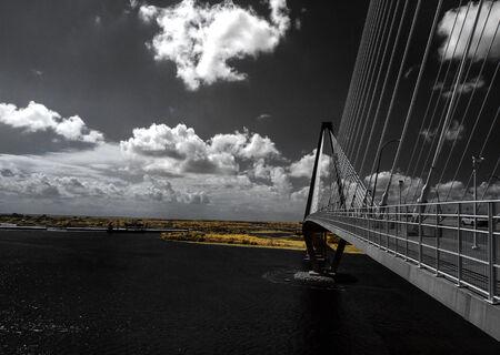 cooper: Cooper River Bridge Infrared Stock Photo