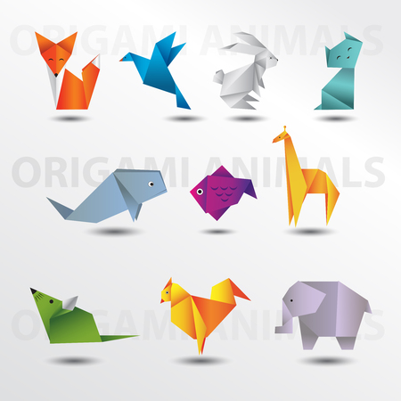 Origami animal oack collection Illustration
