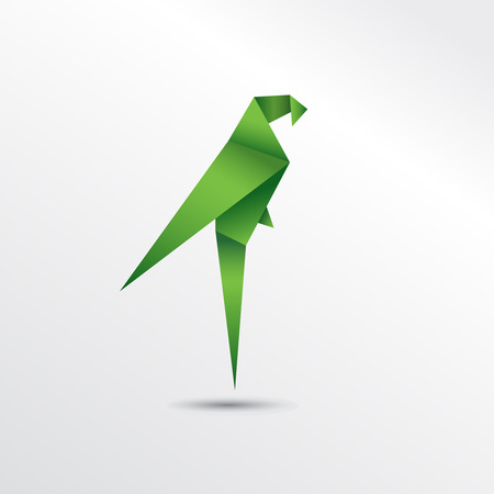 flocks: Origami parrot Illustration