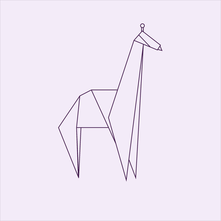 Giraffe Origami Illustration Stock Photo Picture And Royalty Free