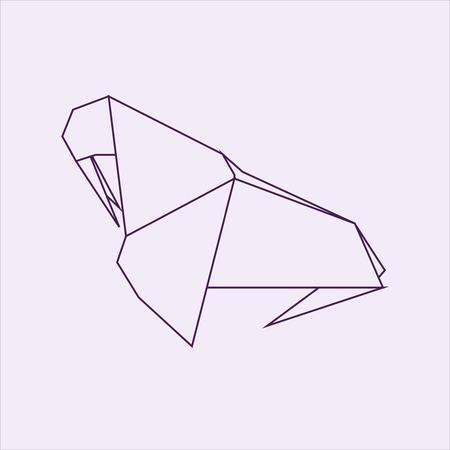 Walrus origami illustration