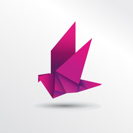 Oiseau origami Banque d'images - 79872997