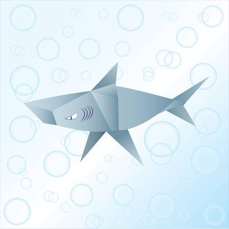 carcharodon: Shark origami Stock Photo