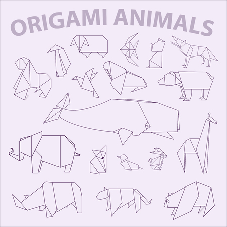 Big oirgami animal pack Stock Photo
