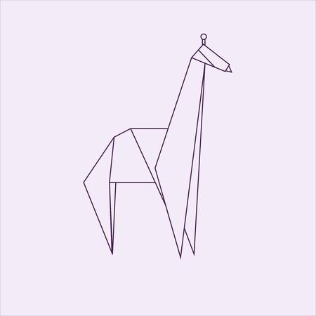 Giraffe origami Stock Photo