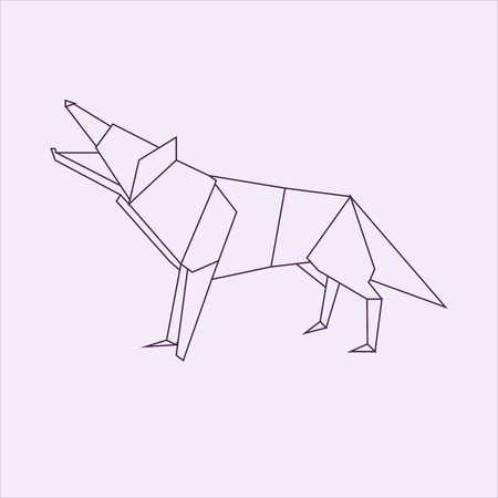 Wolf Origami Stock Photo Picture And Royalty Free Image Image