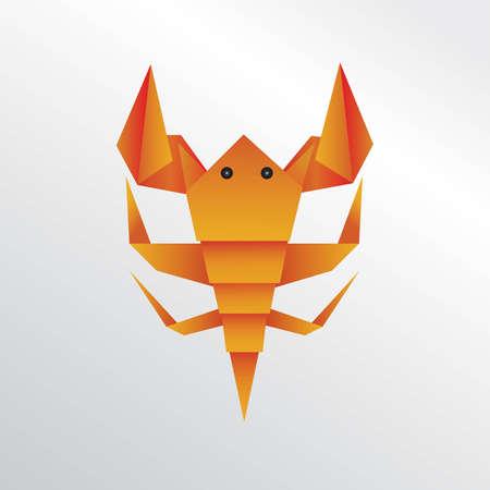 Scorpion origami Stock Photo