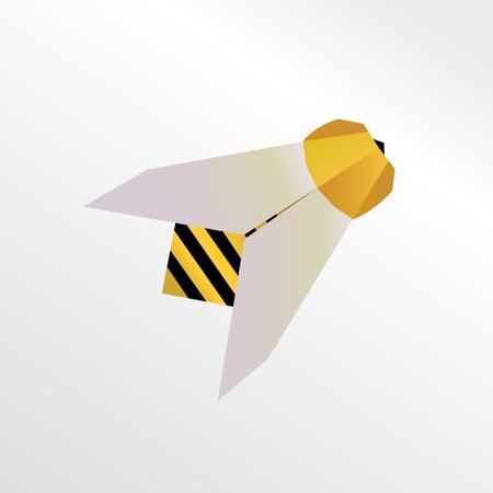 Bee origami Stock Photo
