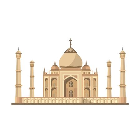 Taj Mahal Agra India. Illustration