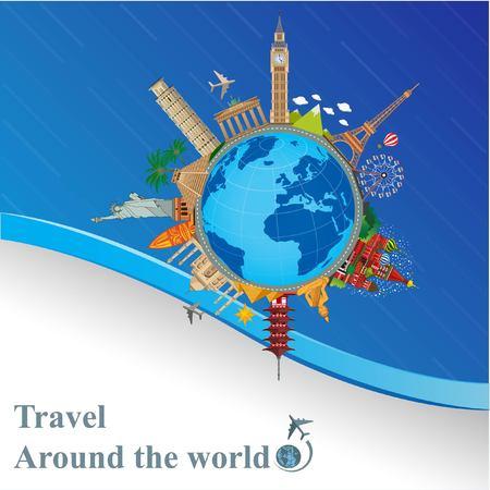 En todo el mundo viaja turismo y explora países y ciudades.