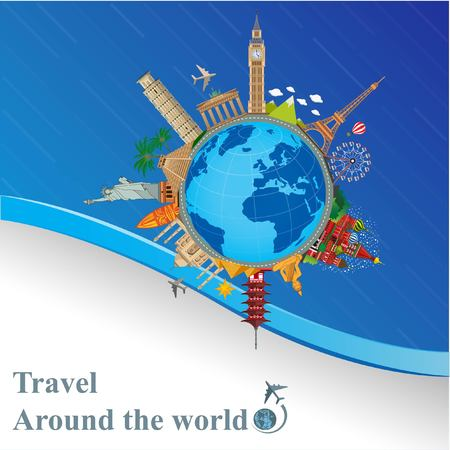 Around the world travel tourism and exploring countries and cities.