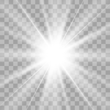 Blue star explodes on transparent background. Sparkling magic dust particles. Bright Star. The transparent shining sun, bright flash. Illustration