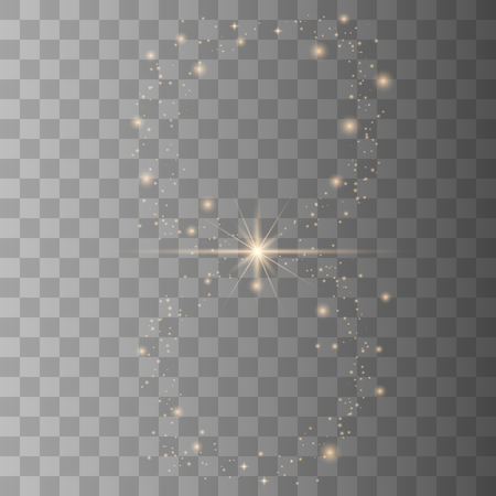 White sparks glitter special light effect. Vector sparkles on transparent background. Christmas abstract pattern. Sparkling magic dust. Vector Illustrator EPS10.