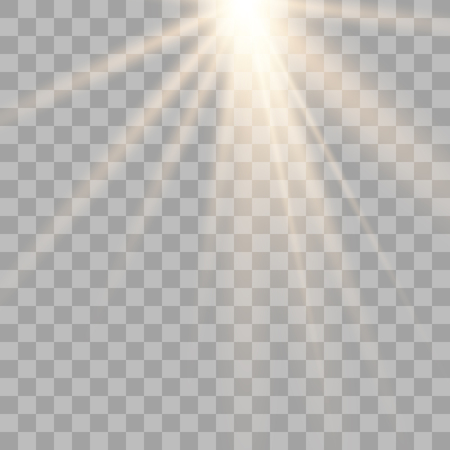 Vector illustration of light decoration effect with ray. transparent sunlight special lens flare light effect. Vector illustration