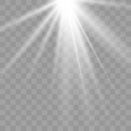 Shiny sunburst of sunbeams on the abstract sunshine background and transparency background.transparent sunlight special lens flare light effect