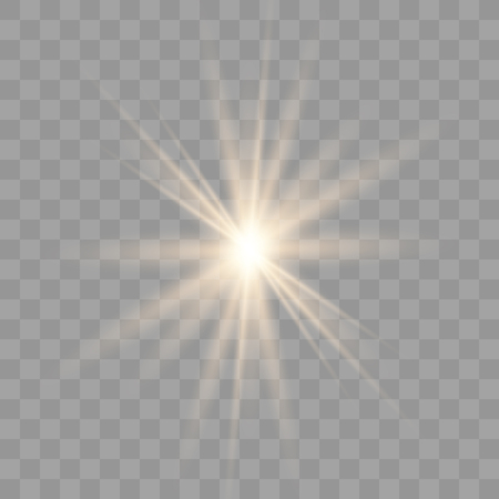 Glow light effect. Star burst with sparkles. Vector illustration explosion with transparent. Vector illustration for cool effect decoration with ray sparkles. Bright star.