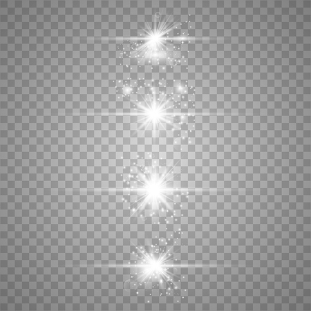 Optical lens flare light effects the solar particles and the sparks with the effect of the selection, golden lights sparkle. On a dark background,