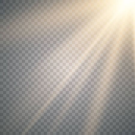 벡터 투명 햇빛 특수 렌즈 플래시 조명 효과. radiance.Sun에 비추어 벡터 흐림