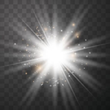 Glow light effect  Star burst with sparkles  Special effect isolated