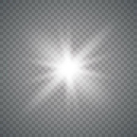 Effet de lumière éclatante. L'étoile éclatait d'étincelles.