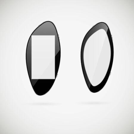 ergonomic: The smartphone executed in style of ergonomic design.