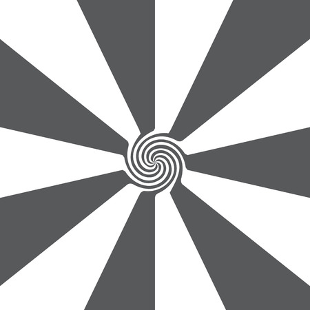 Abstract background of gray and white stripes turning into a funnel.