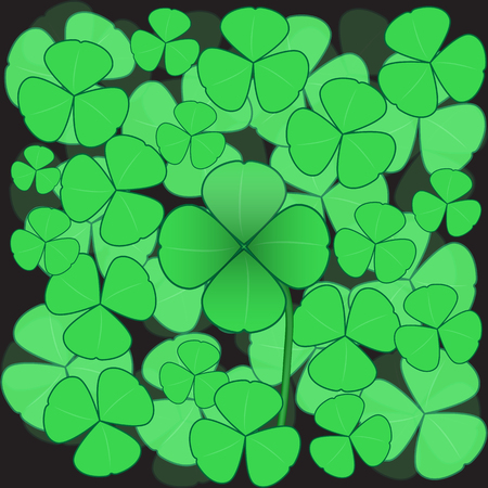 clover background: Clover background with quatrefoil in the center.