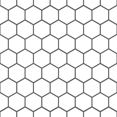 Abstract background from gray honeycombs on a white substrate.