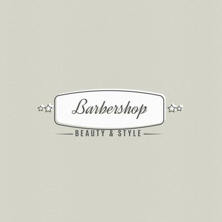 ビンテージ スタイルで実行される理髪サロンの看板。
