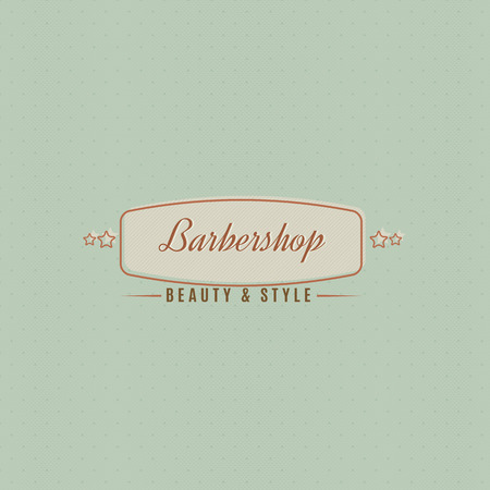 The hairdressing salon sign executed in vintage style.