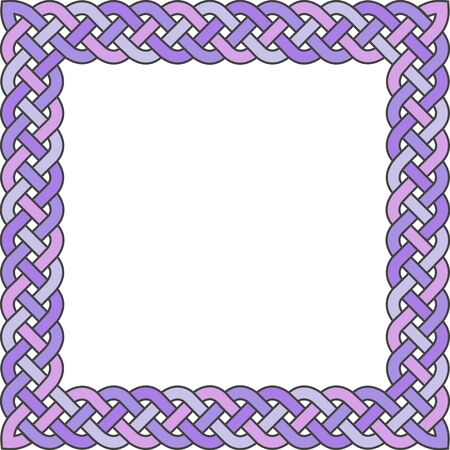 gaelic: Patten frame executed in violet tones.