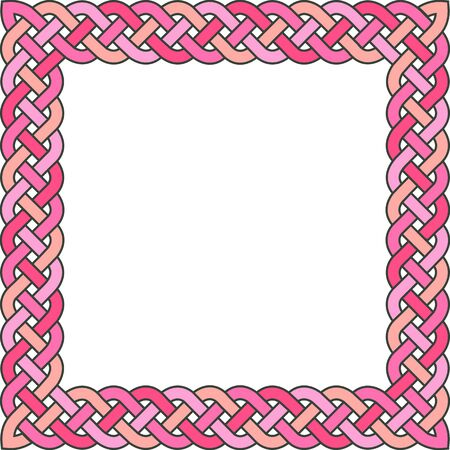 patten: Patten frame executed in purple tones. Illustration