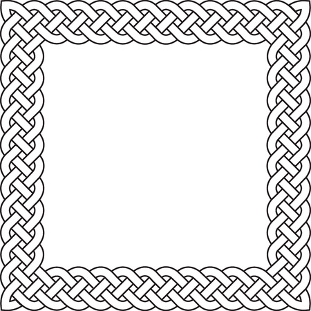 gaelic: Patten frame executed in black-and-white color.