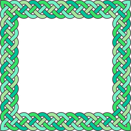 gaelic: Patten frame executed in green tones.