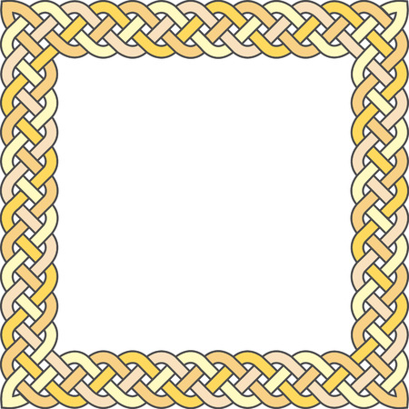 executed: Patten frame executed in pastel yellow tones.