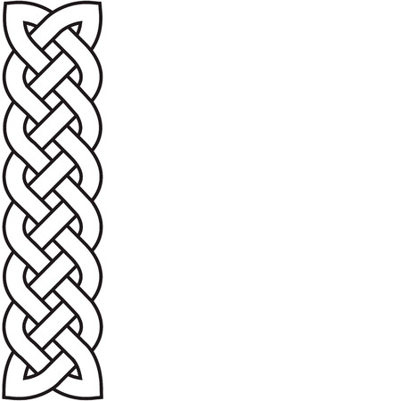 weaved: Celtic pattern in the form of the weaved braid.