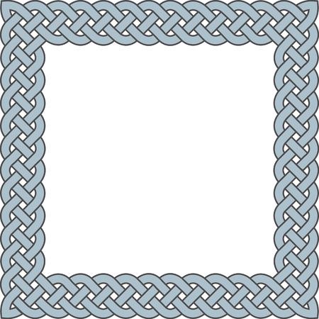 patten: Patten frame executed in pastel blue color. Illustration