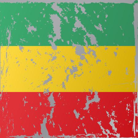 rastafarian: Rastafarian flag executed in grunge style.