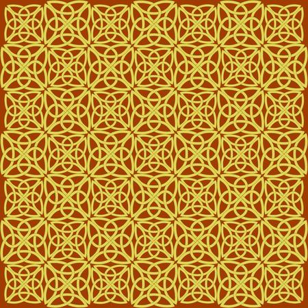 ethno: Background consisting of a Celtic pattern of shamrocks. Element for design.
